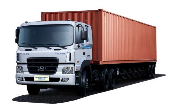 Xe container 40 feet vận chuyển hàng HCM đi Quảng Ngãi