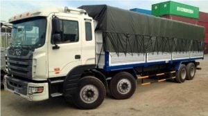 xe 20 tấn vận chuyển hàng từ Hà Nội đi Quy Nhơn - Bình Định