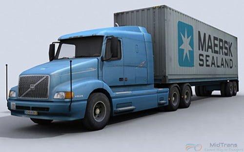Xe đầu kéo container 40 feet vận chuyển hàng HCM đi Quảng Trị