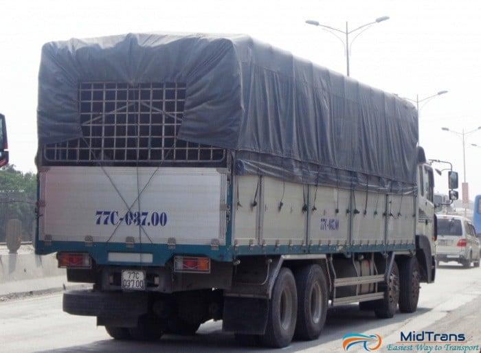 xe tải đi Bình Định