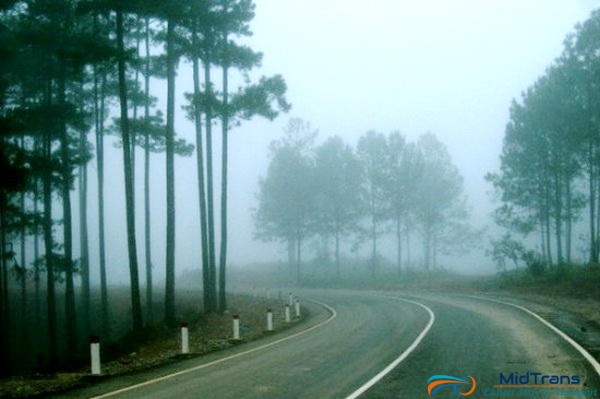đường lên đà lạt hay có sương mù
